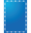 blue frame with white tracery vector image