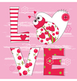 Cute baby background with ladybug vector image vector image