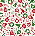Seamless pattern of christmas texture icons vector image vector image