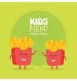 Kids restaurant menu cardboard character Funny vector image