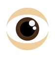 brown eye icon vector image