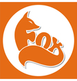 animals logo fox vector image