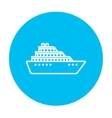Cruise ship line icon vector image