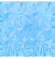 Crystal ice triangles blue background vector image