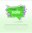 flat linear promotion sticker price tag sticker vector image