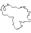 map of venezuela continous line vector image