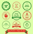 Merry Christmas And Happy New Year Label Stamp vector image