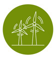 wind turbine icon in thin line style vector image