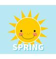 Cartoon spring background Sun Cloud Design concept vector image