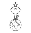 a cat coloring page vector image