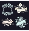 Set of design elements with ribbons labels and vector image