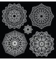 Round lace pattern set Mandala vector image