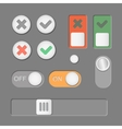 Toggle switch icons on dark background On vector image