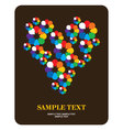 greeting card flower vector image vector image