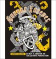 heraldry grunge shirt design vector image vector image
