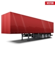 Blank red parked semi trailer vector image