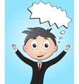 Cartoon happy office worker screaming with joy vector image