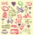doodles set vector image