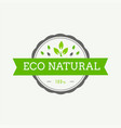 eco icon label organic tags flat stamp natural vector image