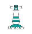 island beach lighthouse vector image