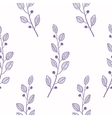 Outline seamless pattern background with branch vector image