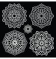 Round lace pattern set Mandala vector image