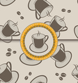 Seamless background with coffee cups for design vector image