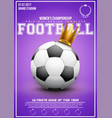 sporting poster of women football vector image