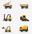 Truck Forklift Bulldozer Set vector image
