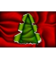 Christmas tree made of torn paper vector image