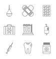 Diagnosis icons set outline style vector image vector image