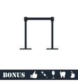 Horizontal bar icon flat vector image