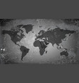 World map on grunge background vector image