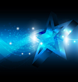 Star with technology background vector image