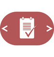to do list icon vector image vector image