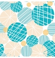 Texture circles abstract seamless pattern vector image