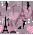 Seamless pattern - Effel Tower vector image vector image