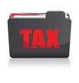 tax folder vector image vector image