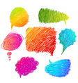 colorful hand drawn speech bubbles vector image vector image