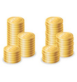 gold dollar coins vector image