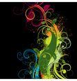 vivid floral background vector image