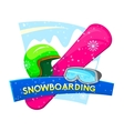 Snowboarding vector image