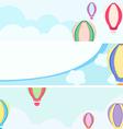 balloon banners vector image