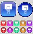 Basketball backboard icon sign A set of twelve vector image