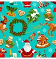 Christmas Day winter holidays seamless pattern vector image