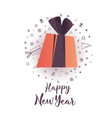 creative happy new year background and icon set vector image