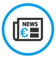 Euro Newspaper Circled Icon vector image