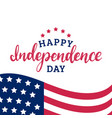 happy independence day of united states of america vector image