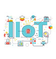 iiot industrial internet of things vector image