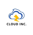 modern minimalistic cloud logo vector image
